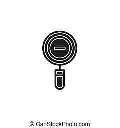 zoom out icon - magnifying glass symbol - find button
