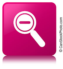 Zoom out icon pink square button