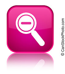 Zoom out icon special pink square button