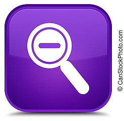 Zoom out icon special purple square button