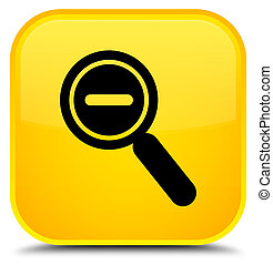 Zoom out icon special yellow square button