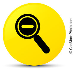 Zoom out icon yellow round button
