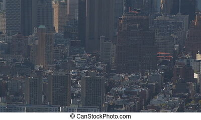 zoom out sea of houses manhattan