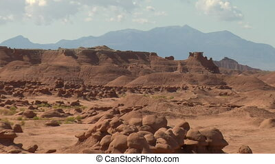 zoom out shot of goblin Valley Utah
