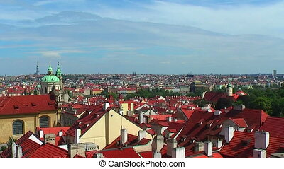 Zoom panorama of Prague