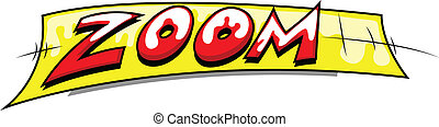 Zoom - Retro Comic Text Banner - Zoom - Comic Expression...