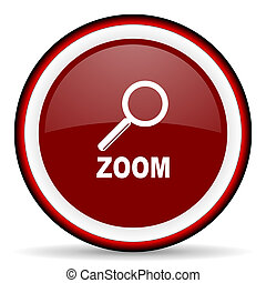 zoom round glossy icon, modern design web element