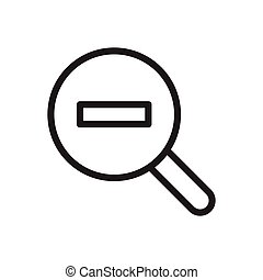 zoom thin line icon