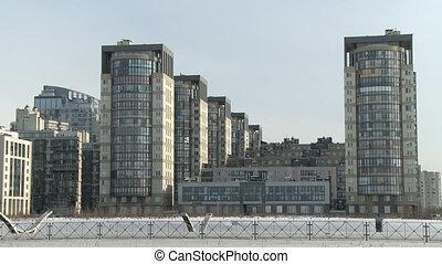 Zoom video of multi-storey buildings