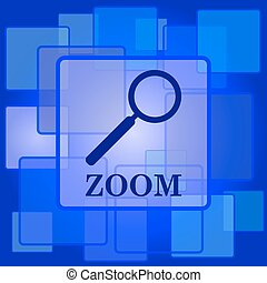 Zoom with loupe icon