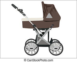 Zoomed baby stroller vector image