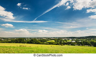 Zooming Aachen Timelapse, Germany - Panoramic view from...