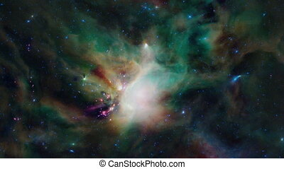 Zooming into a nebula - Zooming into a coloful and dynamic...