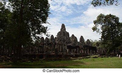 bayon - zooming into bayon of angkor wat