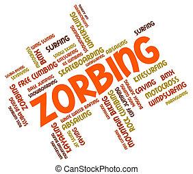 zorbing, palavra, indica, wordcloud, zorber, e, rolando