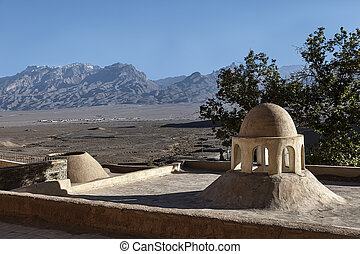 Zoroastrian cult construction near the town of Yazd in Iran.