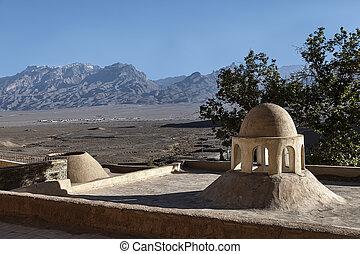 Zoroastrian cult construction near the town of Yazd in Iran.