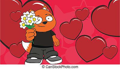 zorro, background3, caricatura, niño