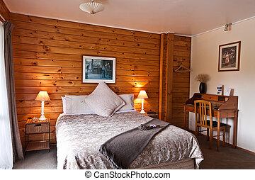 zorro, logia, dormitorio, glaciar, interior