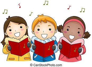 zpívat koledy, vánoce