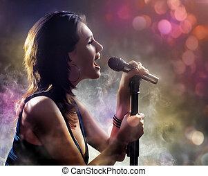 zpěv, děvče