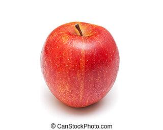zralý, červeň, apple., osamocený, oproti neposkvrněný