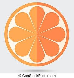 zralý, pomeranč