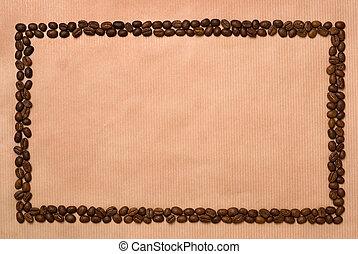 zrnková káva, frame., pravoúhelník