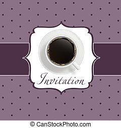 zrnková káva, pozvání, grafické pozadí