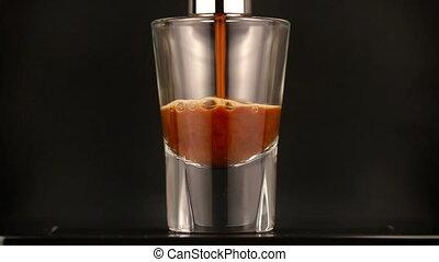 zrobienie, espresso, na, wyłączny, kawa maszyna