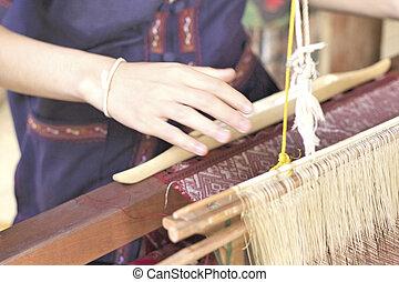 zrobienie, handmade, nitka, tkactwo
