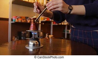 zrobienie kawa, turecki
