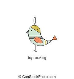 zrobienie, kreska, zabawki, ikona
