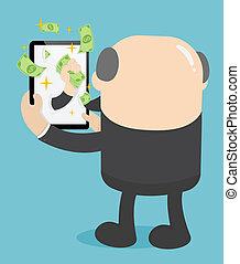 zrobienie pieniądze, online