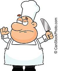 zrzędny, rysunek, mistrz kucharski
