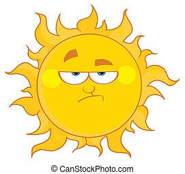 zrzędny, słońce