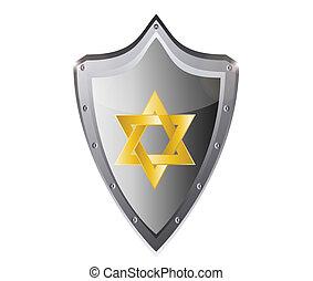 zsidó, héber, csillag, magen david
