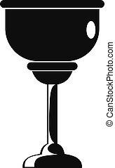 zsidó, ikon, mód, egyszerű, csésze
