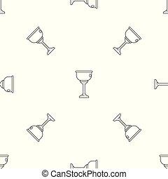 zsidó, motívum, vektor, seamless, csésze