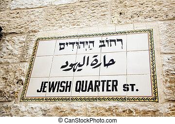 zsidó, negyed, szt.
