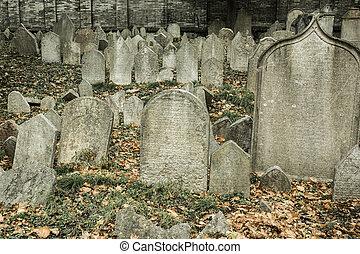 zsidó, prága, temető