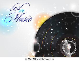 ztracený, do, hudba