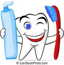 zub, charakter