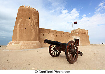Zubarah fort in Qatar, Middle East