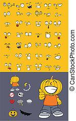 zucca, halloween1, cartone animato, capretto