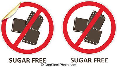 zucchero, libero, icone