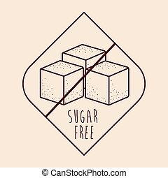 zucchero, prodotto, libero