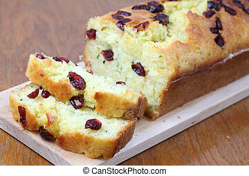 Zucchini bread with cranberries