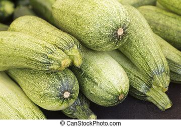 Zucchini - Bunch of organic zucchini at local farmers market