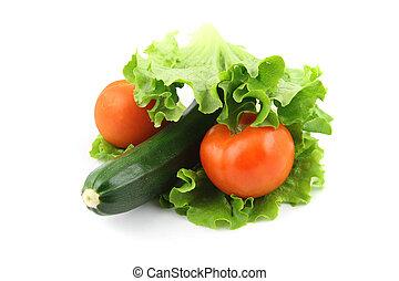 zucchini, e, pomodoro